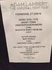 Eydie Harris @angel0051  Got it!!! @adamlambert  #TheOriginal set list #Foxwoods
