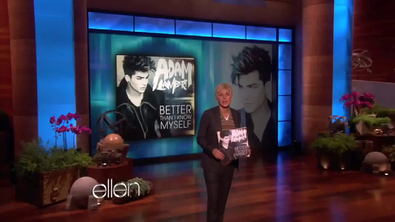 Adam Lambert   Better Than I Know Myself on Ellen[1]