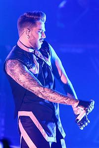 Adam Lambert  live at Fillmore Detroit on 3-25-16.  Photo credit: Ken Settle