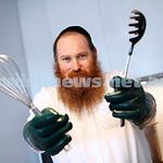August 2014. Mashgiach Adam Ruschinek koshering a kitchen. Photo: Peter Haskin