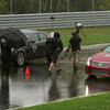 Shooting for Cadillac at the Monticello Race Track in upstate NY. Rain was not forecasted to be this intense, but I always pack gear for shooting in the worst weather when I know I'll be shooting outside. Shot on DSLRs in PAL format for delivery in Asia and Europe.