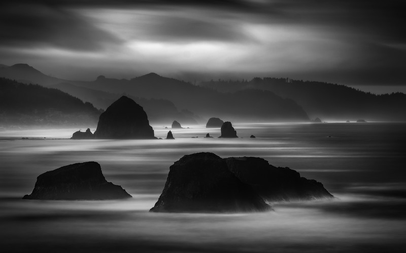 The Stacks of Canon Beach