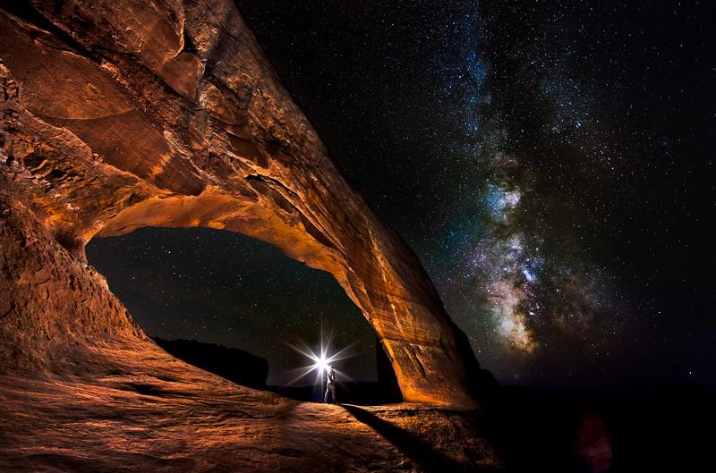 Wilson Arch under the Milky Way
