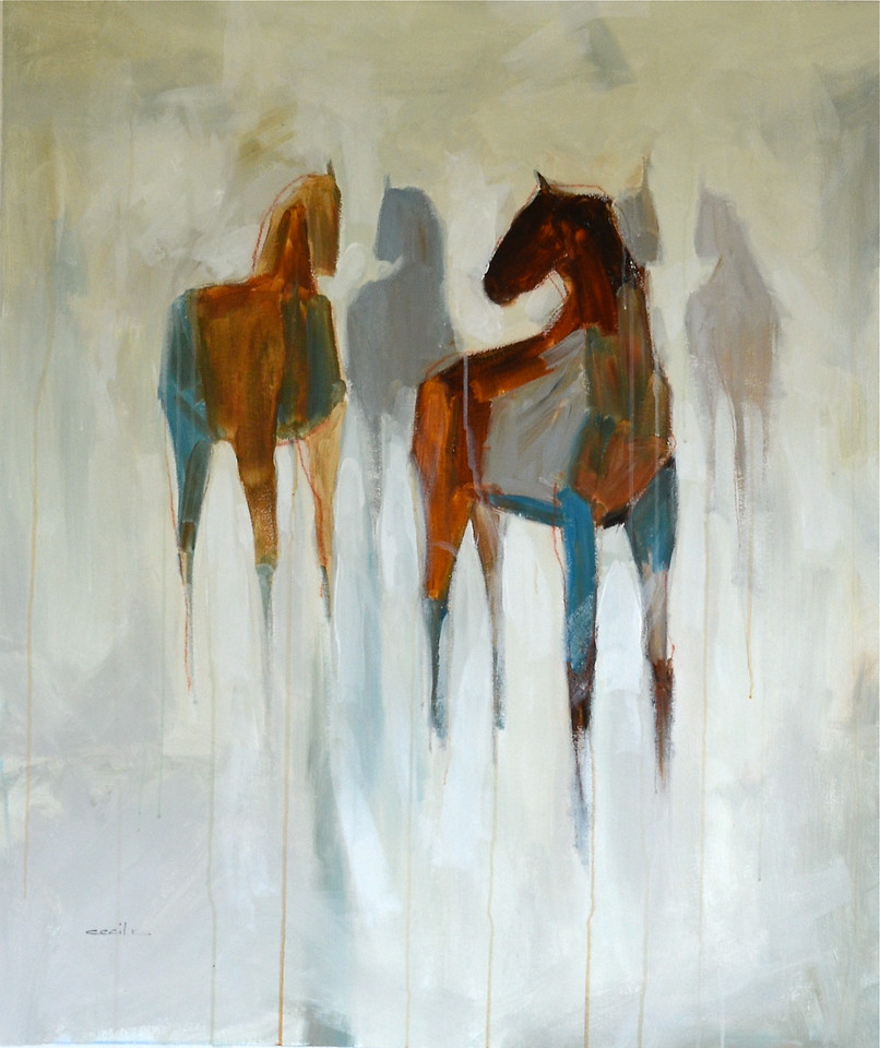Abstract Figures,Horse-Cecil, 32x38 on canvas (15-5-) JPG