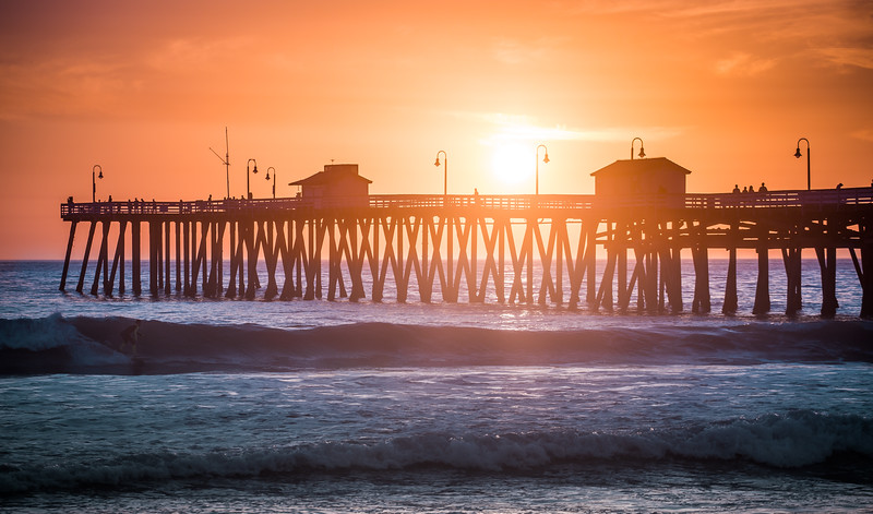 Sunset Surf in San Clemente, California