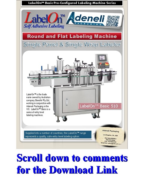 LabelOn™ Basic Single Panel & Wrap to 85% Labeling Machine Brochure