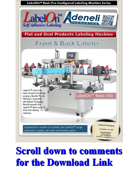 LabelOn™ Basic Double Flat and Oval Sided Labeling Machine Brochure