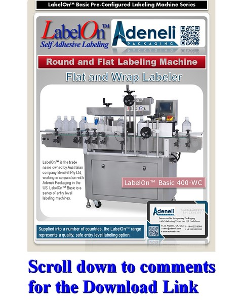LabelOn™ Basic Flat and Round Labeling Machine Brochure