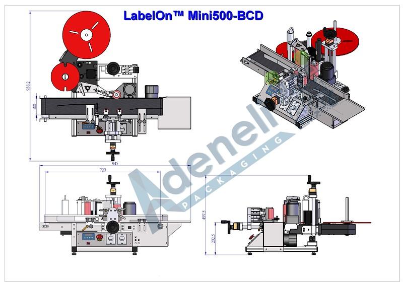 LabelOn Mini500-BCD Dimensions