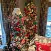 More trees match the theme in the family room, all decorated by owner Jill Adie.