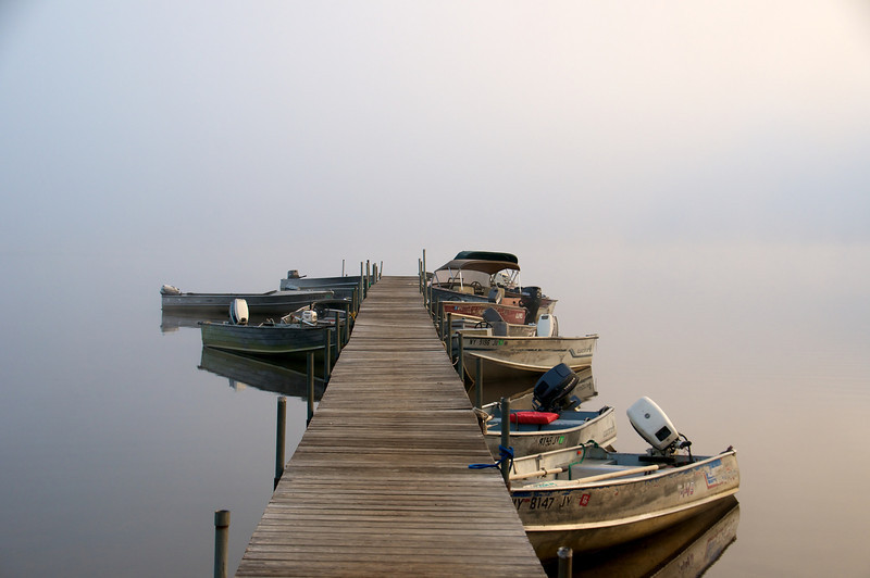 Boats in the Mist