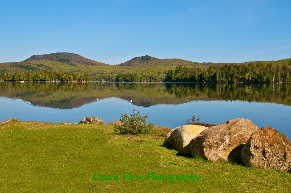 Blue Mountain Lake - Beautiful Spring Day
