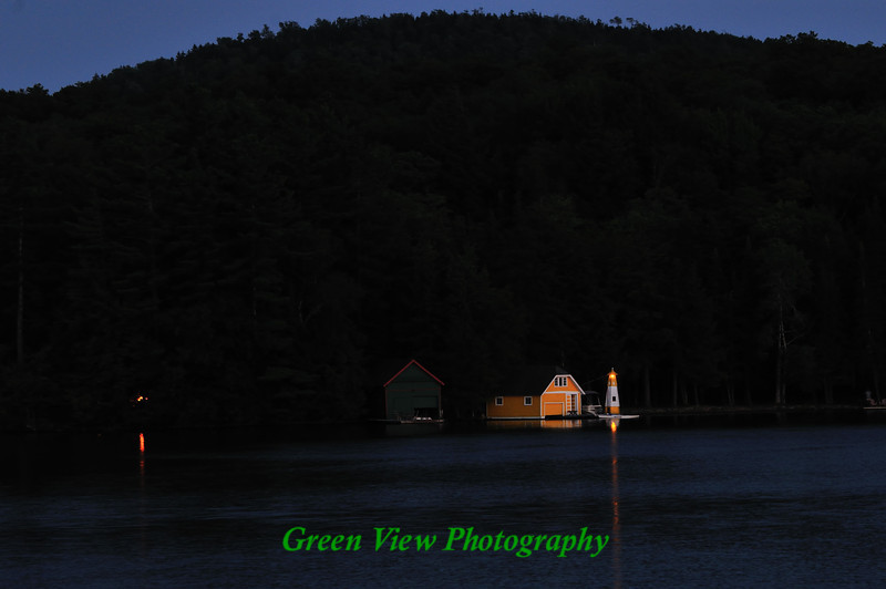 Evening Boathouse