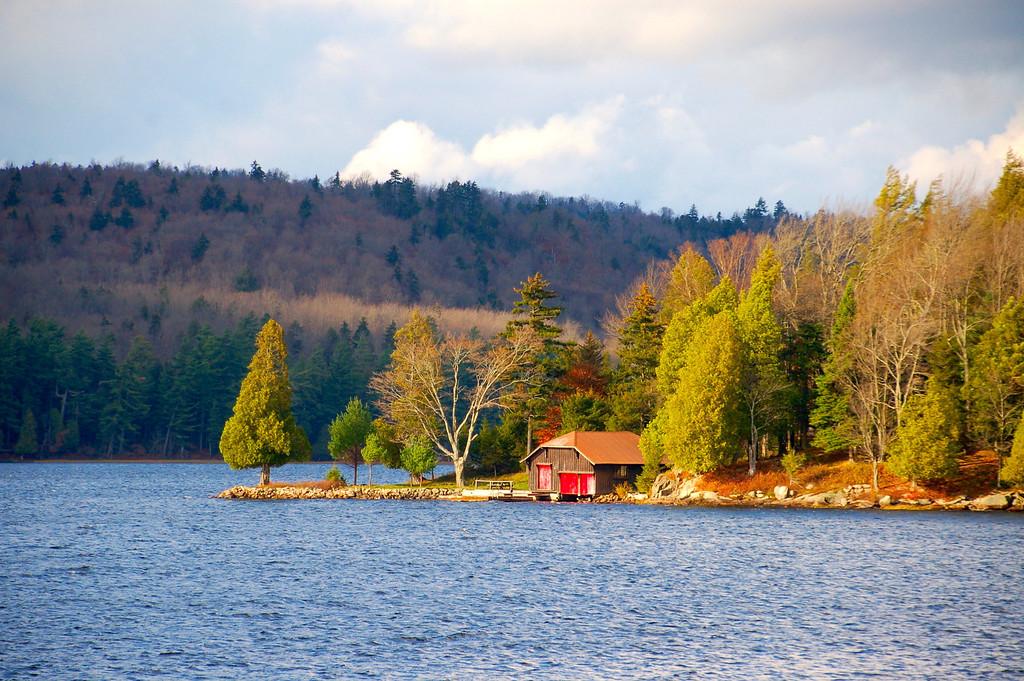 Boat House on Big Moose Lake