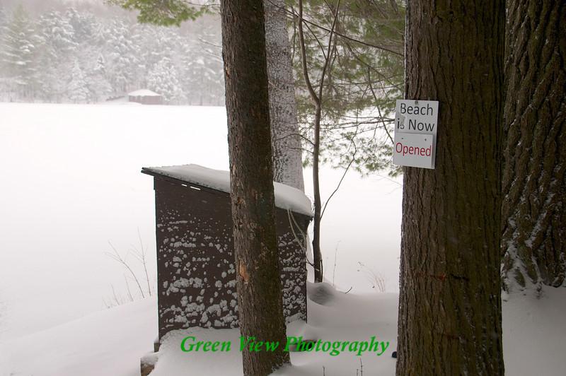 White Lake Beach sign
