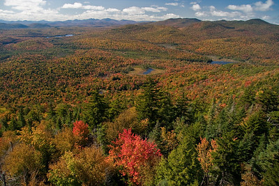 View from Goodnow Mountain fire tower to the southwest