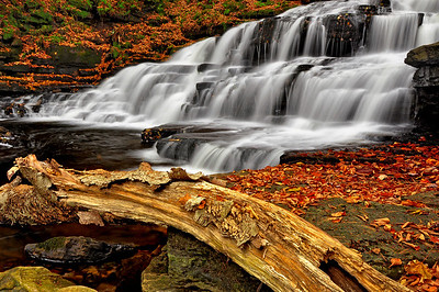 16- Beecher Creek Falls in October, Adirondacks.