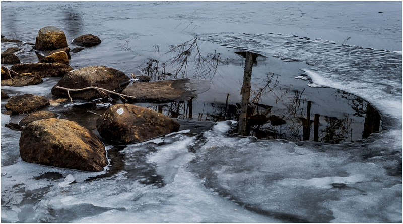 Adirondacks Lower Cascade Lake Detail 3 February 2017