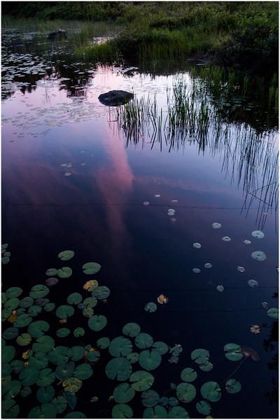 Adirondacks Chateaugay Lake Sunset from Snug Harbor Camp 6 July 2016