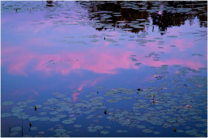 Adirondacks Chateaugay Lake Sunset from Snug Harbor Camp 2 July 2016