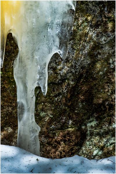 Adirondacks Mt Jo Trail Iceflow 13 February 2017