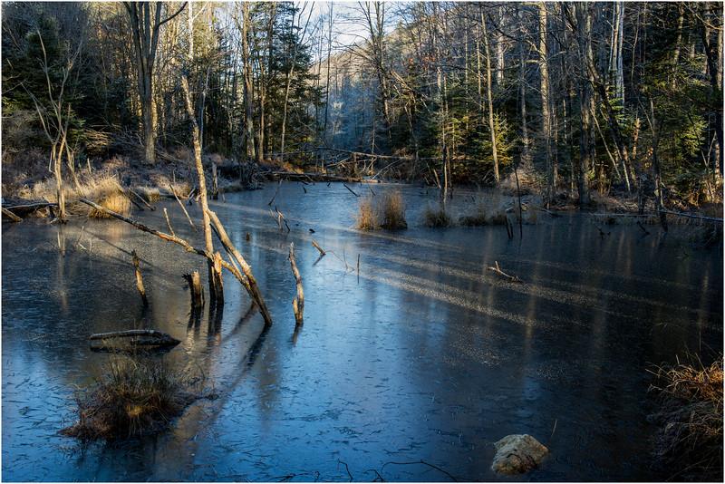Adirondacks North Creek November 2015 Austin Pond Beaver Pond Ice 3