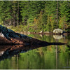 Adirondacks South Pond Slant Rock and Shoreline October 2011