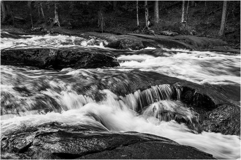 Adirondacks Long Lake November 2015 Buttermilk Falls 13 BW