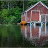 Adirondacks Chateaugay Lake Boathouse with Guideboat 1 August 2017