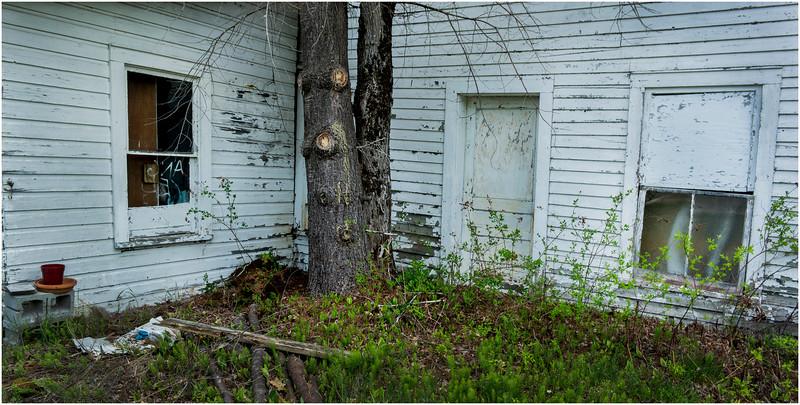 Adirondacks Long Lake NY White Barn 1 May 2016