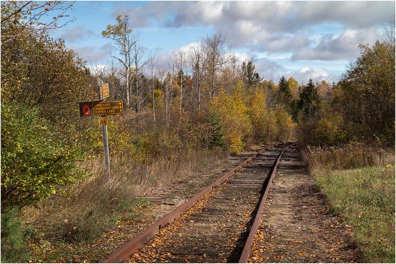 Adirondacks Whitney WildernessSabbatis Railroad Entrance October 2012