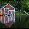 Adirondacks Chateaugay Lake Boathouse with Guideboat 2 August 2017