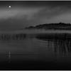 Adirondacks Little Tupper Lake Mist Moon and Wild Rice 9 September 2013