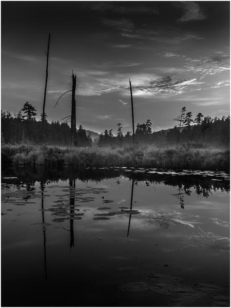 Adirondacks Forked Lake Brandreth Inlet Sunset 5 July 2008