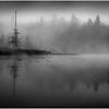 Adirondacks Whitney Wilderness Round Lake Swampy Misty Shore 6 September 2013