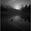 Adirondacks Whitney Wilderness Round Lake Sunrise in Morning Mist 2 October 2011