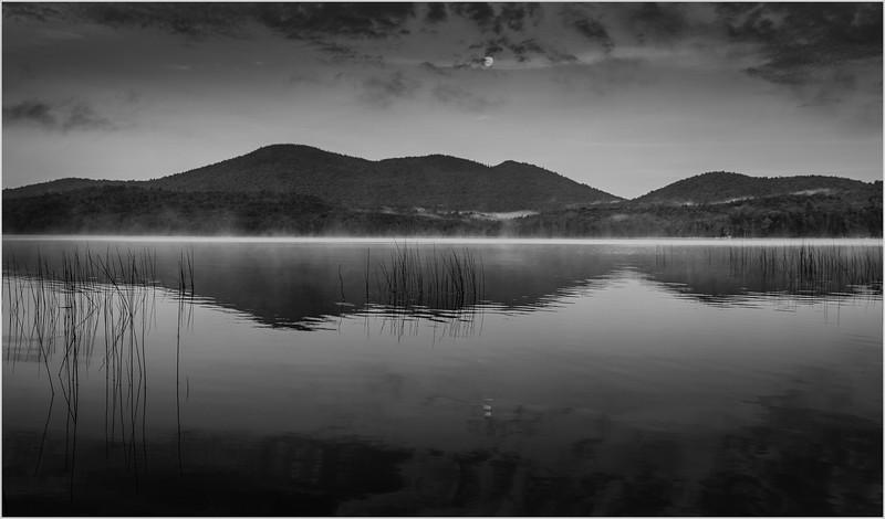 Adirondacks Lake Eaton Morning 5 BW July 2019