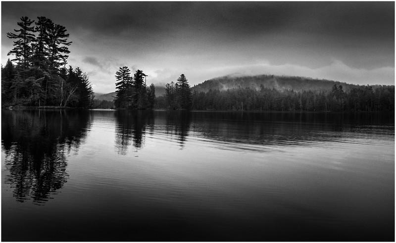 Adirondacks Essex Chain 3rd Lake Under Overcast October 2013