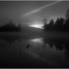 Adirondacks Whitney Wilderness Round Lake Sunrise in Morning Mist October 2011
