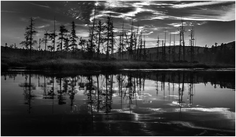 Adirondacks Forked Lake Brandreth Inlet Sunset July 2008