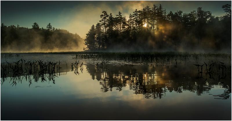 Adirondacks Lake Rondaxe Sunrise 27 July 2016