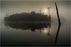 Adirondacks Blue Mountain Lake Islands and Sentinal Tree with Sun 3 July 2013
