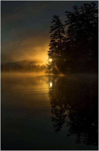 Adirondacks Lake Rondaxe Sunrise 19 July 2016