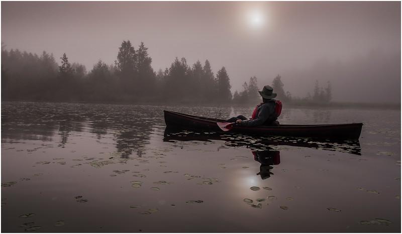 Adirondacks Newcomb Lake Morning Mist 32 July 2017