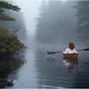 Adirondacks Bog River Morning Mist Channel Paddler 2 Susan Cohen August 2013