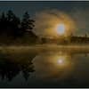 Adirondacks Lake Rondaxe Sunrise 29 July 2016