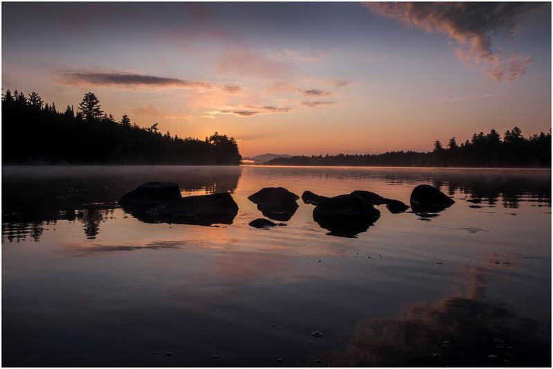 Adirondacks Forked Lake Morning Mist 19 July 2017