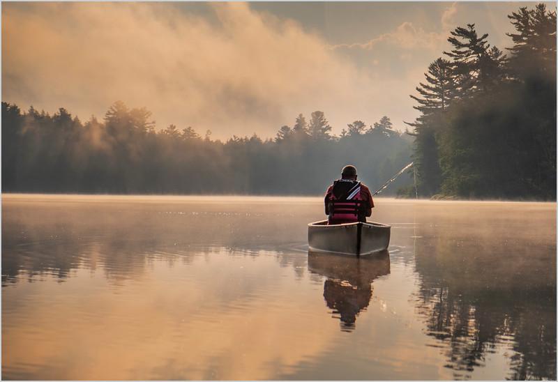 Adirondacks Rollins Pond Morning Mist 36 July 2019