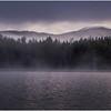 Adirondacks Newcomb Lake Morning Mist Santanoni Peak 2 July 2017