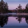 Adirondacks Utowana Lake Morning with Colors October 2009